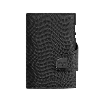 WALLET CLICK & SLIDE BLACK LIZARD