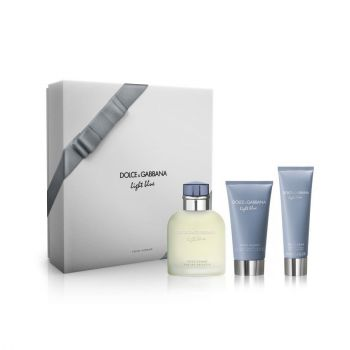 LIGHT BLUE POUR HOMME EDT 125 ML + AFTER SHAVE + SHOWER GEL