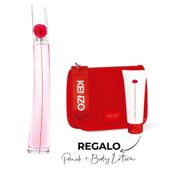 FLOWER BY KENZO POPPY BOUQUET EDP 100 ML + RED POUCH + BODY LOTION